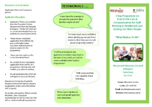 thumbnail of 1 Day Programme – What Matters To Me Leaflet