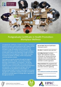 ICHN – NUI Galway – Postgraduate Health Promotion Courses