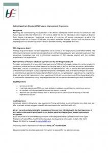 thumbnail of ASD Service Improvement Programme Flyer