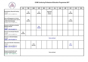 thumbnail of CCNE Outline of Programmes 2017 (across 3 hospitals)