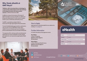 thumbnail of Certificate in ehealth Flyer