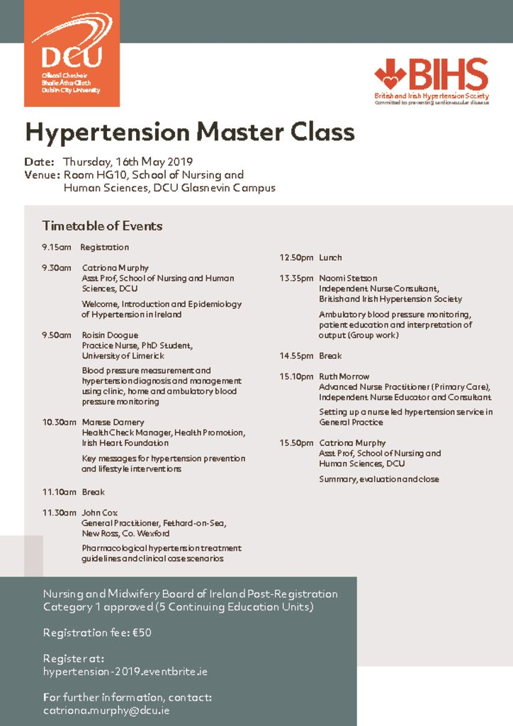 thumbnail of Hypertension Masterclass Programme_DCU May 16 2019
