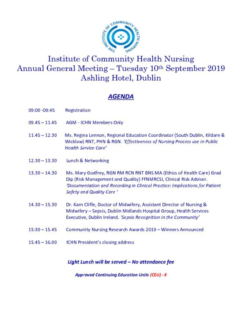 thumbnail of ICHN AGM Agenda 2019