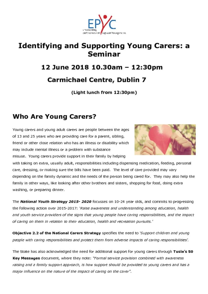 thumbnail of Identifying and Supporting Young Carers Seminar