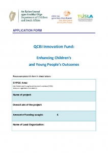 thumbnail of Innovation Fund Application Form