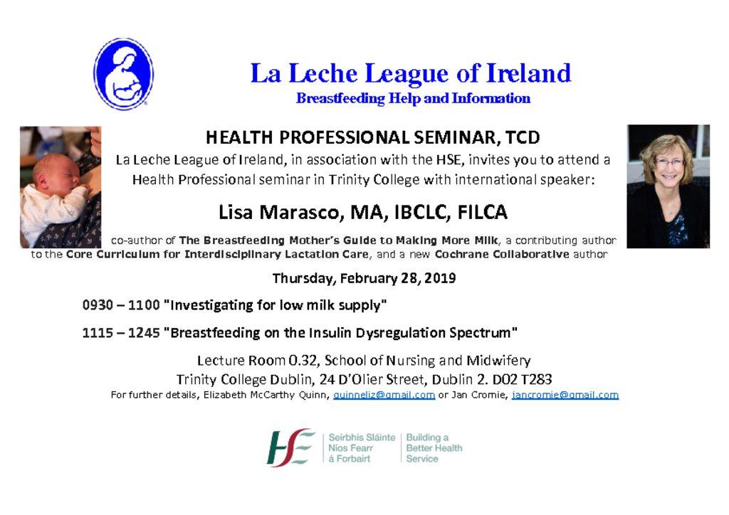 thumbnail of LLL Health Professional Seminar Mar 1 2019 TCD flyer Lisa Marasco-2