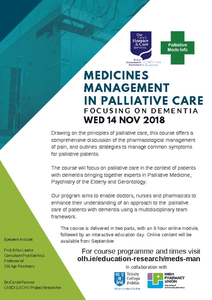 thumbnail of Medicines Management in Palliative Care-Flyer