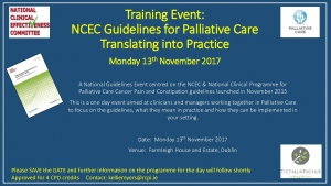 thumbnail of NCEC Guidelines for Palliative Care Event