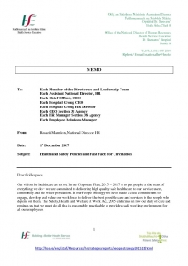 thumbnail of NDHR Memo 011217 re Health & Safety Policies