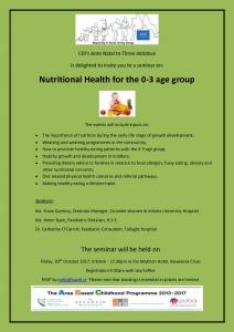 thumbnail of Nutrition Seminar