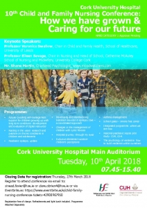 thumbnail of Poster & Timetable for Child & Family Nursing Conference 10th April 2018
