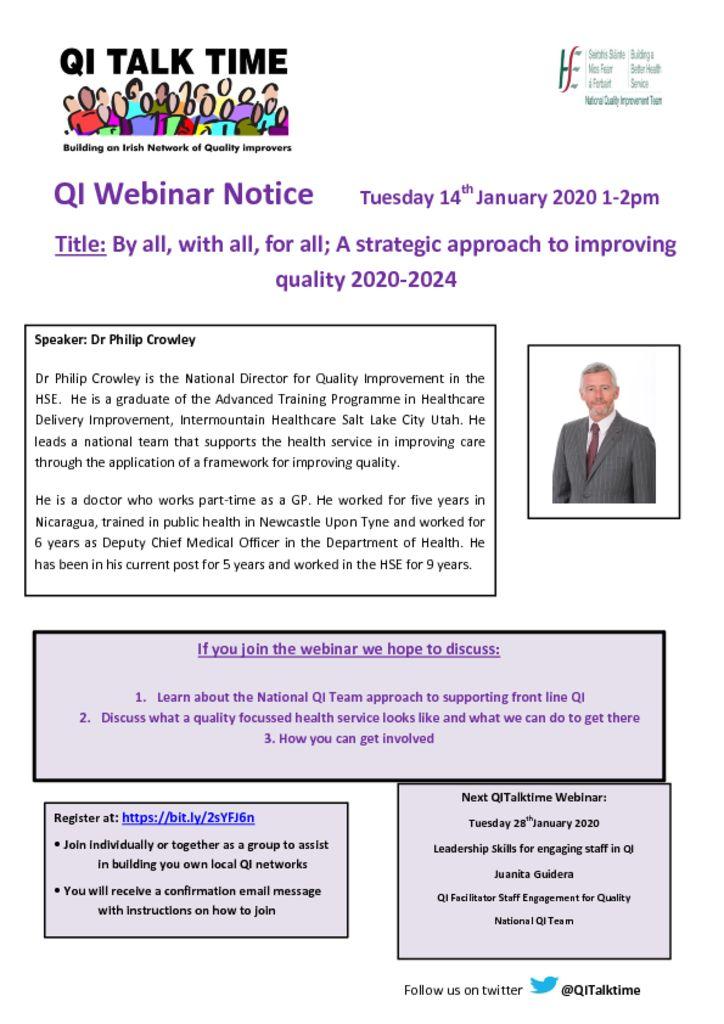 thumbnail of QITalktime 14th Jan 2020 Dr Philip Crowley