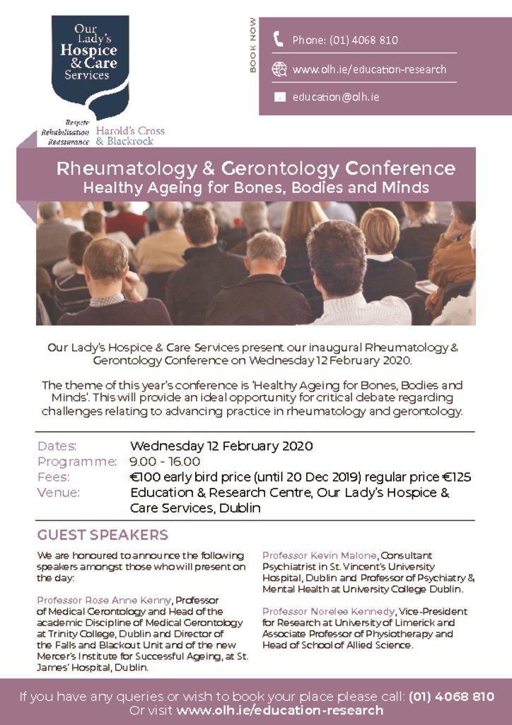 thumbnail of Rheumatology & Gerontology Flyer