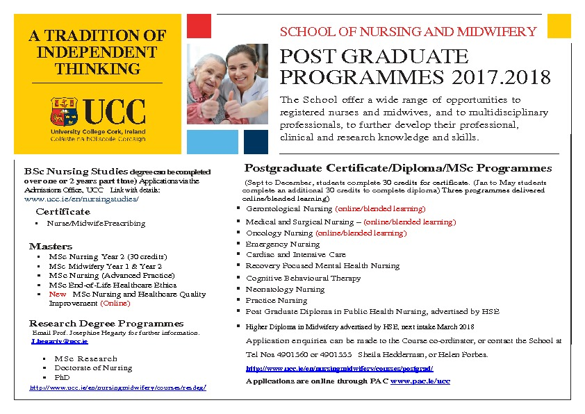 thumbnail of Summary flier Post Graduate programmes 21st March 2017